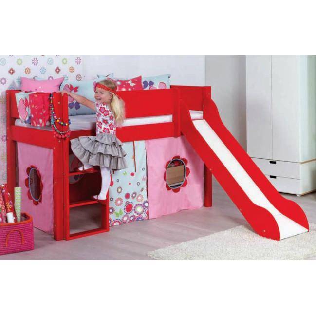 loke manis h halb hochbett mit rutschbahn 90x200 cm. Black Bedroom Furniture Sets. Home Design Ideas