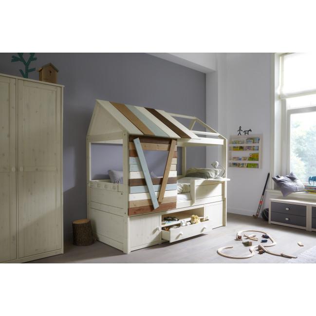 lifetime kidsrooms einzel kojenbett tree house mit roll lattenrost. Black Bedroom Furniture Sets. Home Design Ideas