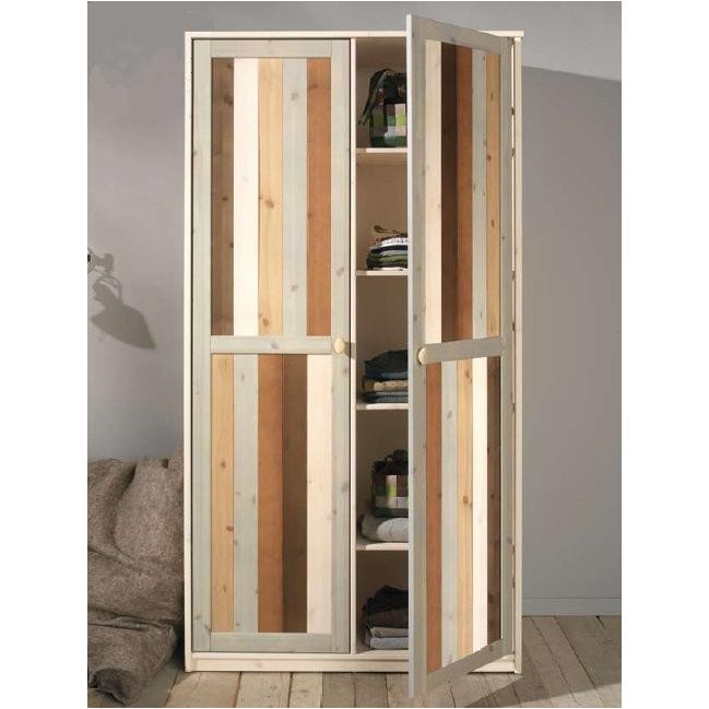 lifetime 2 t riger kleiderschrank in mixfarben. Black Bedroom Furniture Sets. Home Design Ideas