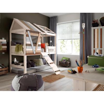 hasena midi 301 hochbett 120x200 mit treppe. Black Bedroom Furniture Sets. Home Design Ideas